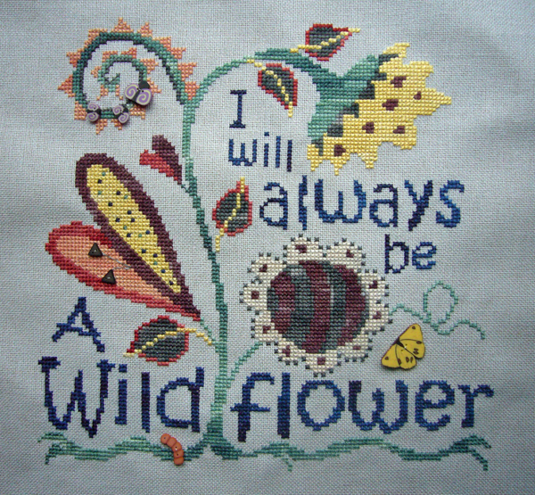 Wildflower - Complete with buttons
